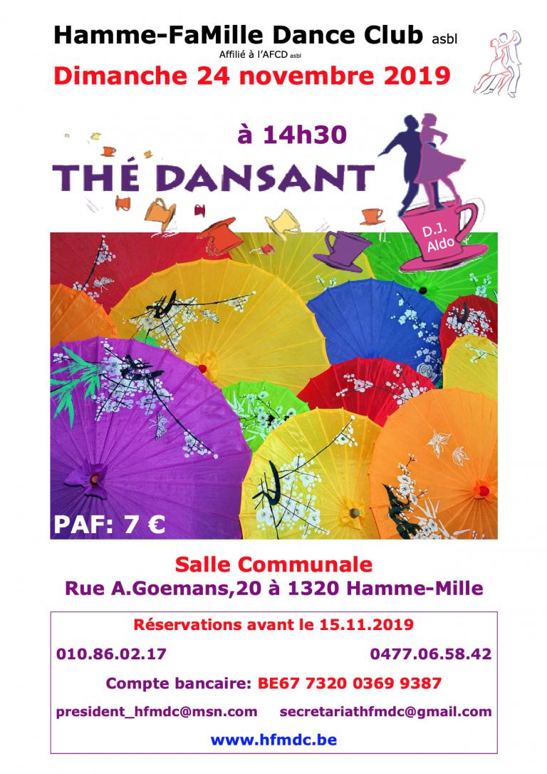 Thé Dansant 24 novembre 2019